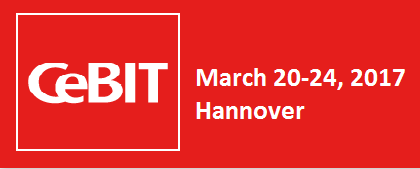 Meet us at Cebit 2017 in Hall 4